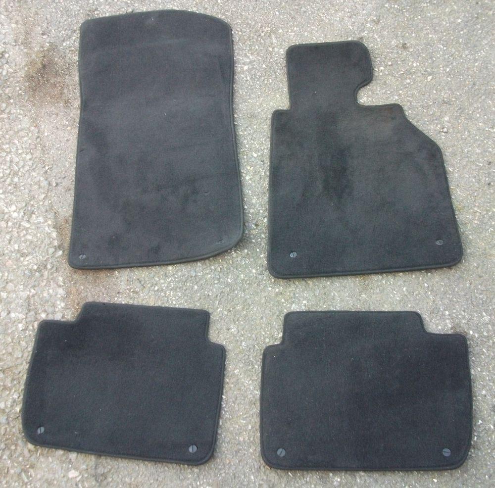 Set 4 Genuine Bmw 3 Series E46 Black Carpet Floor Mats Complete With Clips Black Carpet Floor Mats Carpet Flooring