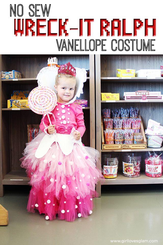 no sew vanellope von schweetz costume from wreck it ralph