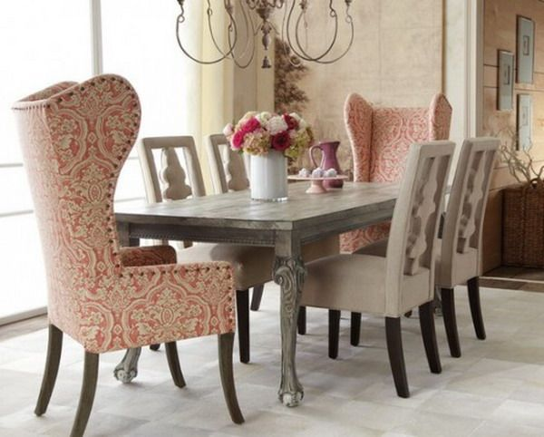 tall back chairs for the head of the table | there's no place like