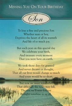 Birthday For Son In Heaven Google Search Thoughts Missing My