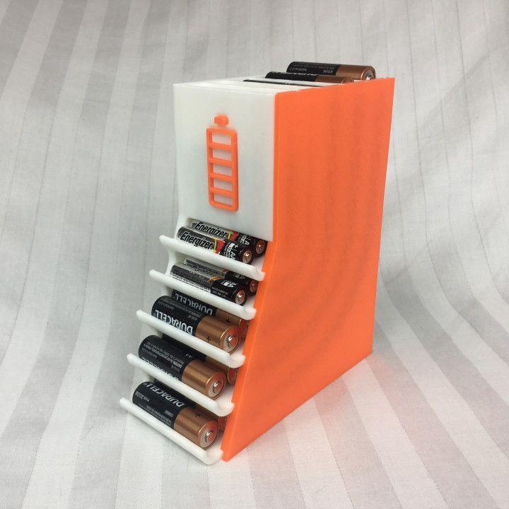 3D Printable Battery Organizer 2             by Mitch Hargadine
