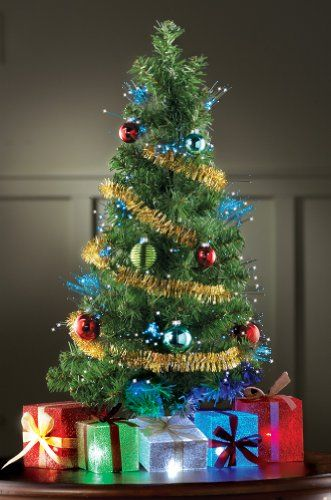 Fiber Optic Merry Christmas Celebration Tree - http://www.christmasshack.com - Fiber Optic Merry Christmas Celebration Tree Christmas Decorations