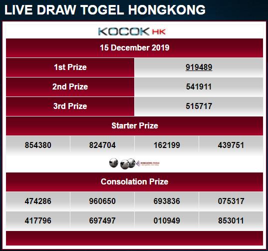 Togel keluar hari ini hongkong live