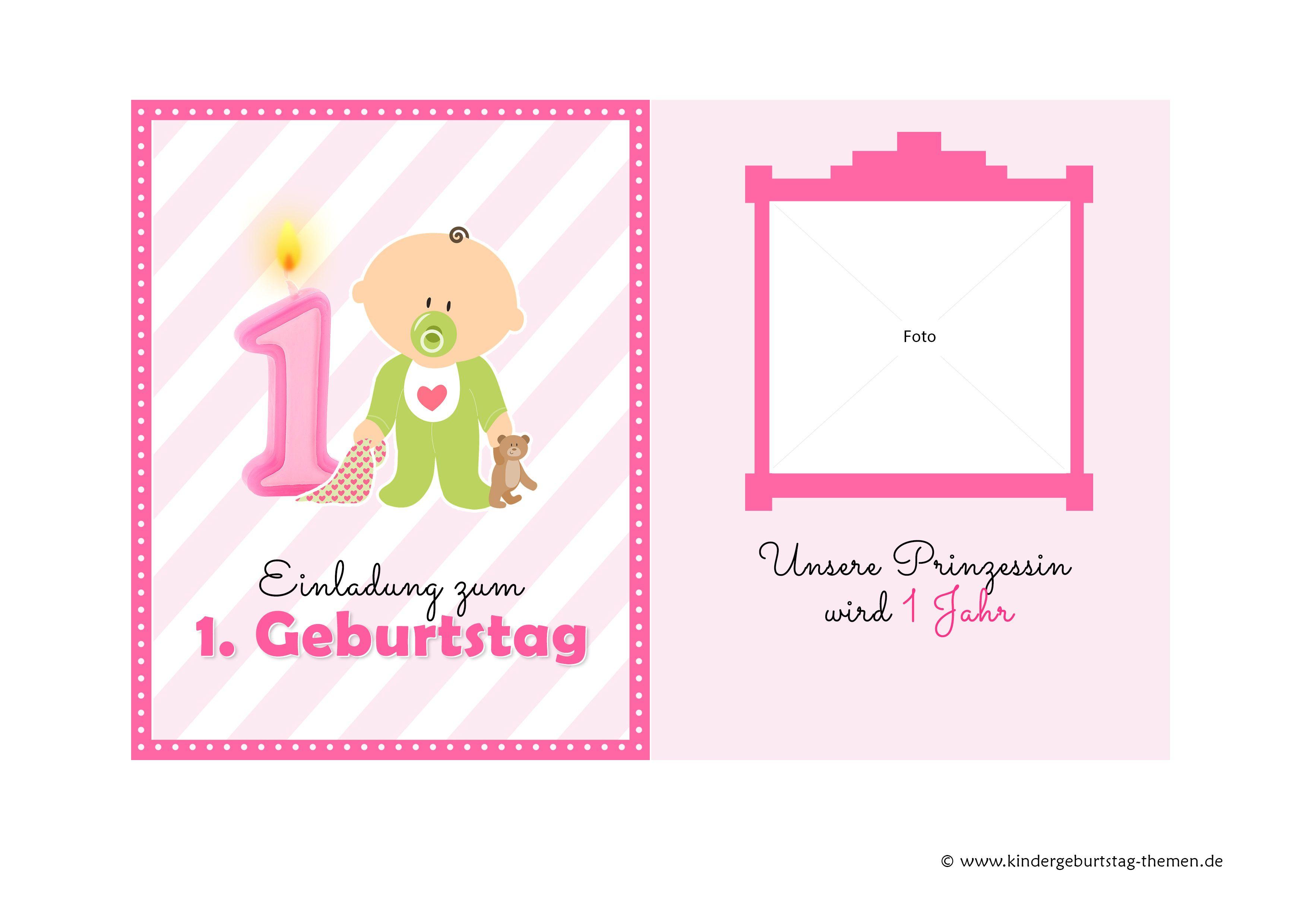 Einladungen Zum 1 Geburtstag Downloaden Einladung Geburtstag