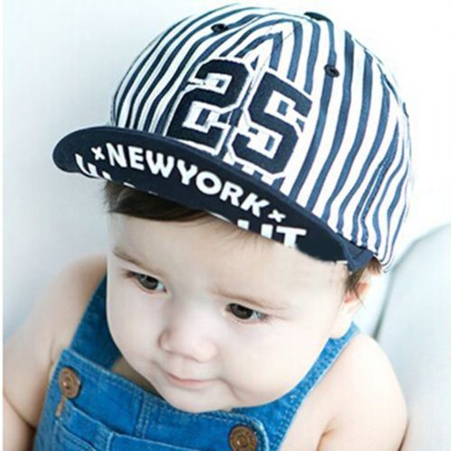 90587997 Toddler-Infant-Baby-Kids-Boy-Girl-Stripe-Beret-Cap-Peaked-Casquette-Baseball -Hat