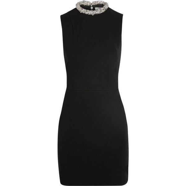 Crystal-embellished Crepe Mini Dress - Black Victoria Beckham 5L0aEY