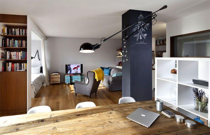 Reconstruction and interior design small apartment architecture studio skica