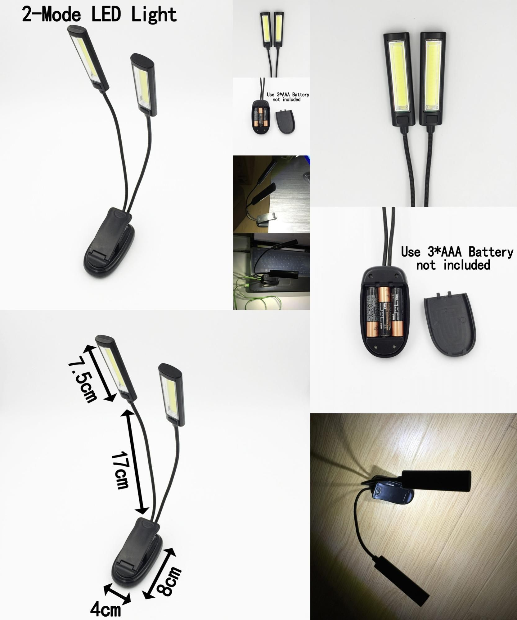 visit to new arrival 1pcs dual flexible arms cob led clip