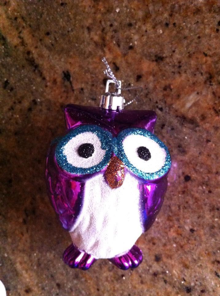 Alexa's first Christmas. First owl ornament:: 2013