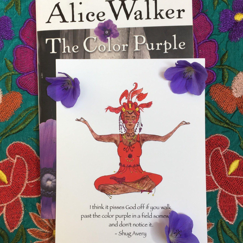 The Color Purple greeting card, Alice Walker card, Shug Avery card ...