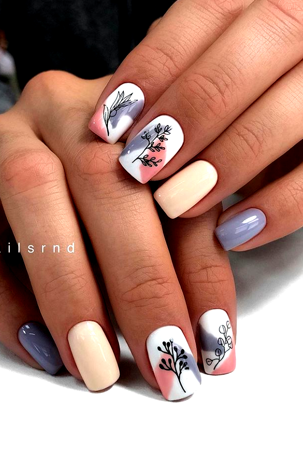 50 Simple Summer Square Acrylic Nails Designs In 2019