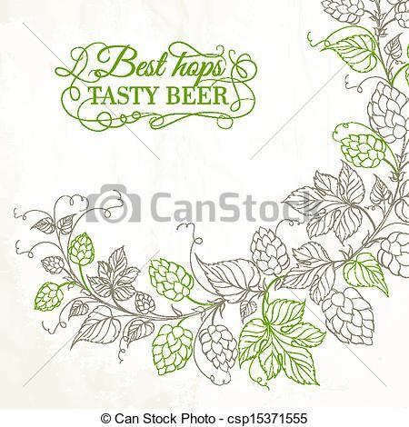 barley&hops vector