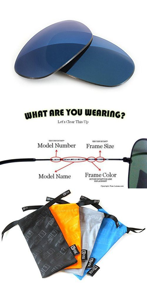 f05a6823e6d5 FUSE Midnight Blue Mirror Tinted Lenses for Ray-Ban RB4115 (57mm ...