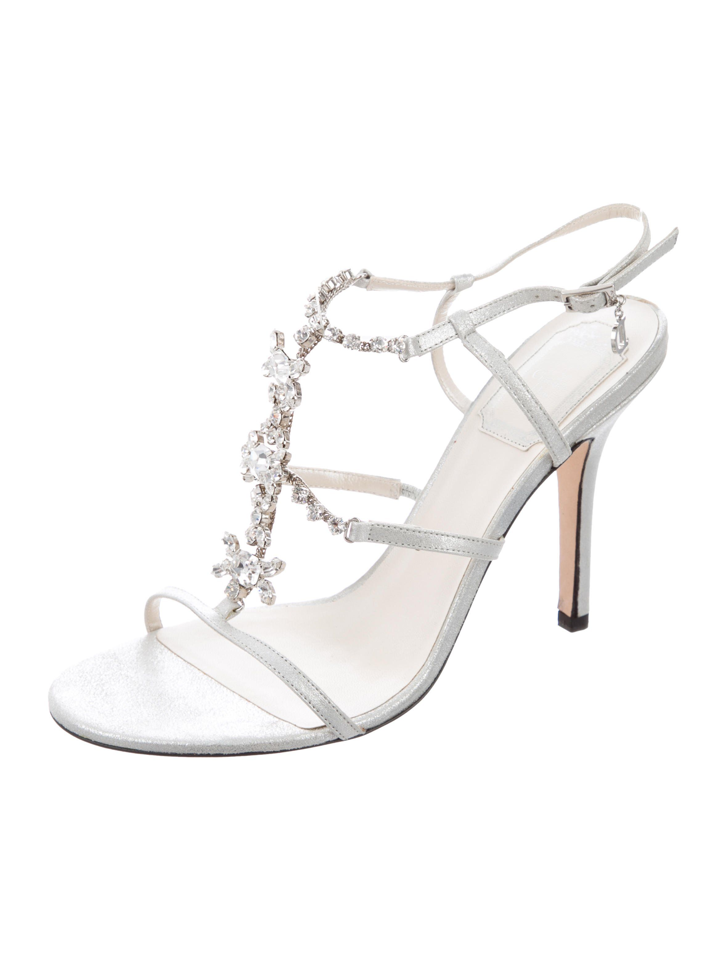 get to buy cheap online buy cheap 2015 Christian Dior Leather Jewel-Embellished Sandals cheap sale new cheap sale 2014 the cheapest oC2x6qsmjP