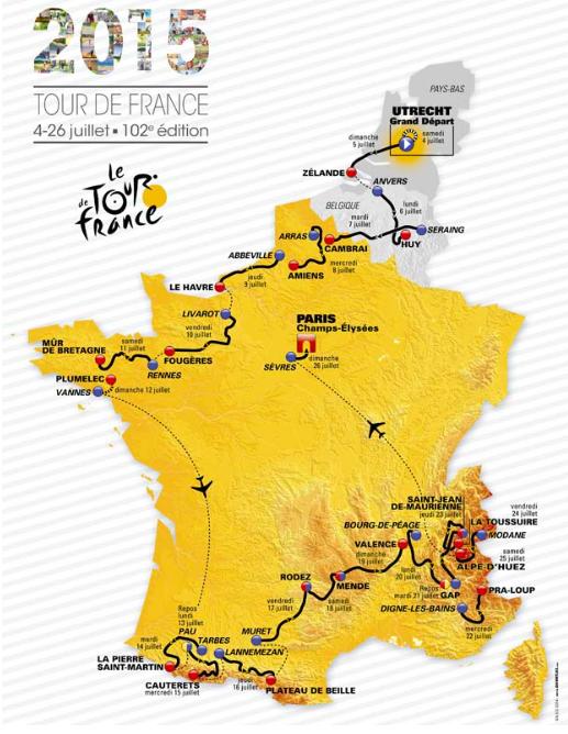 Tour De France 2015 Route & Live Stream Stage 3 Preview
