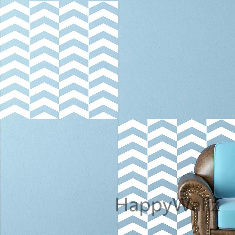 Chevron Wall Sticker Seamless Wall Decal Living Room Modren Wall Decors Easy Wall Decoration 56x56cm P34 #Affiliate