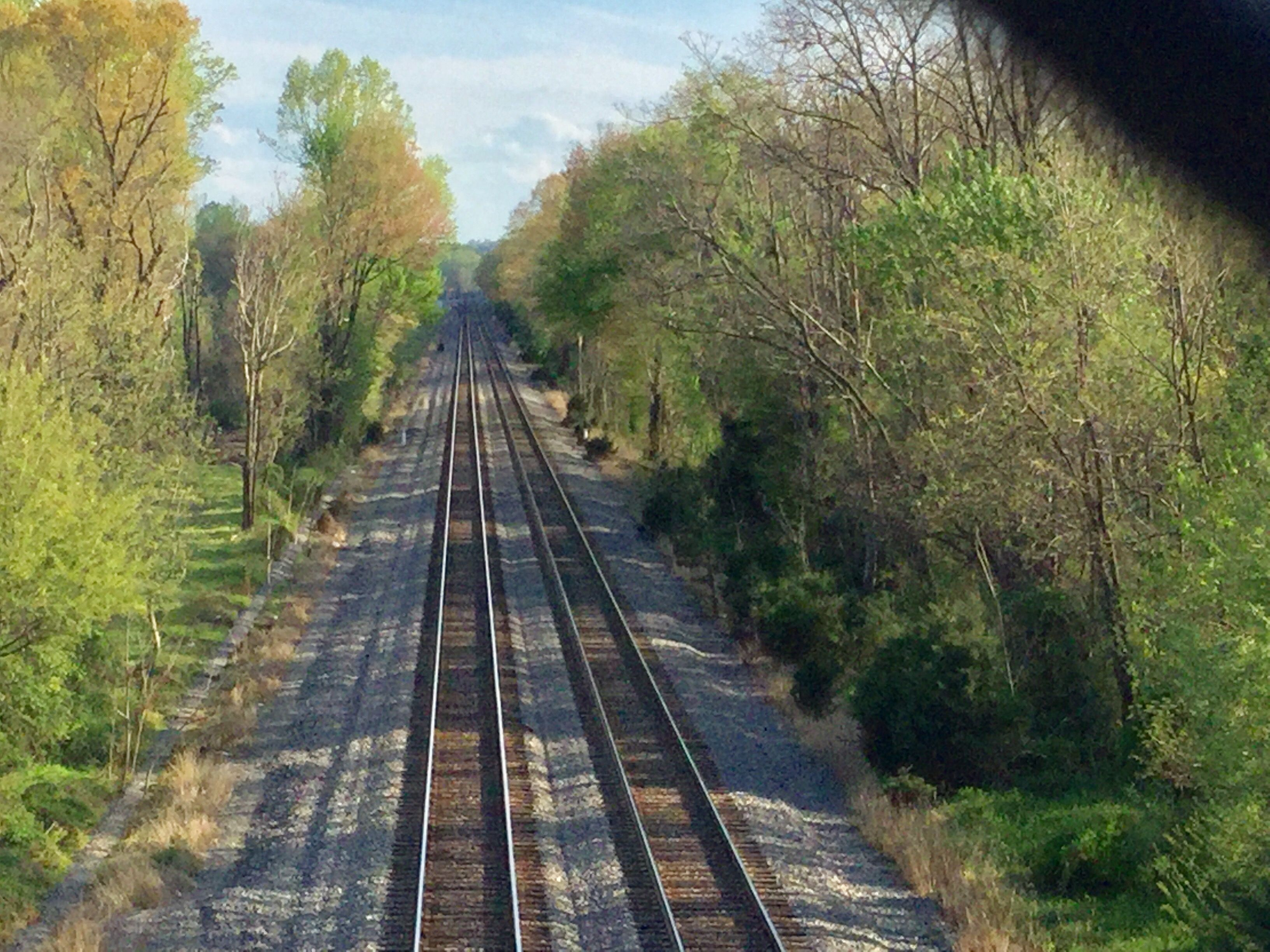 Looking southbound from the walkover at Veterans Park in Woodbridge, Va. photo by Kathy Fite Simon 4/12/17