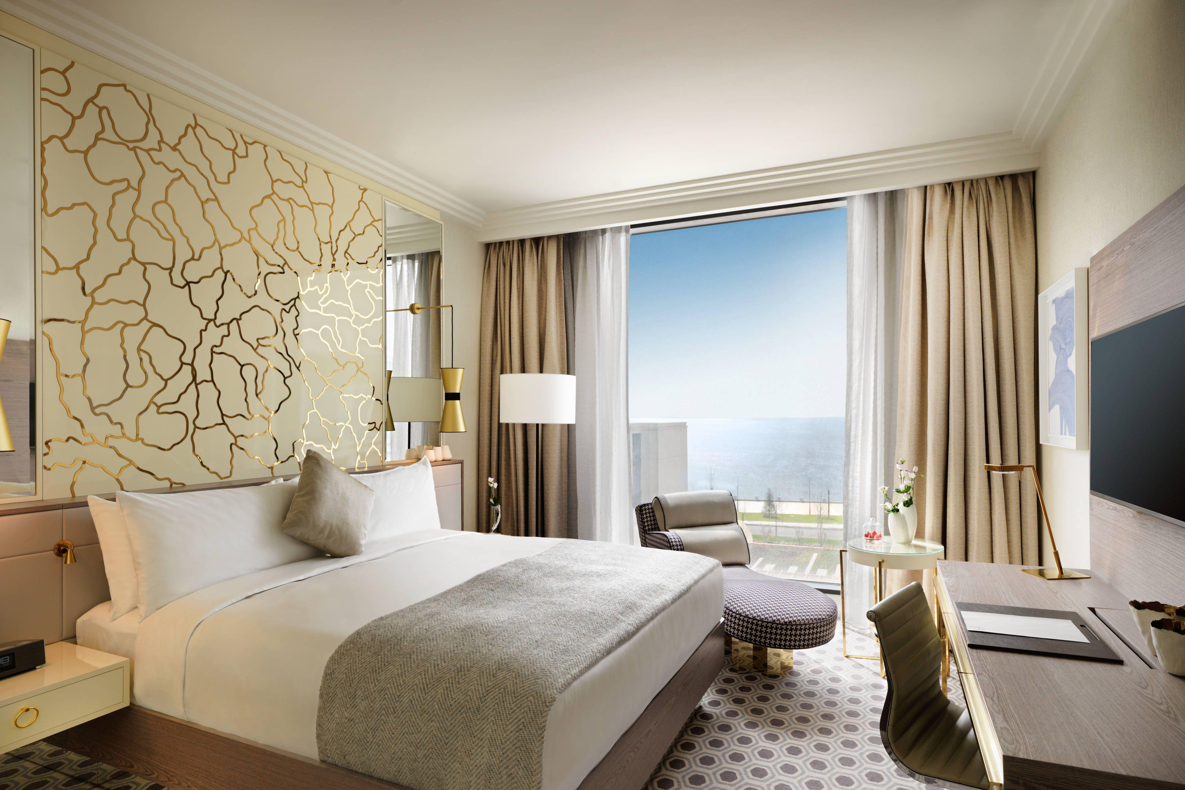 Boulevard Hotel Baku Autograph Collection Sea View King Guest Room Holiday Travel Happy Boulevard Hotel Hotel Baku