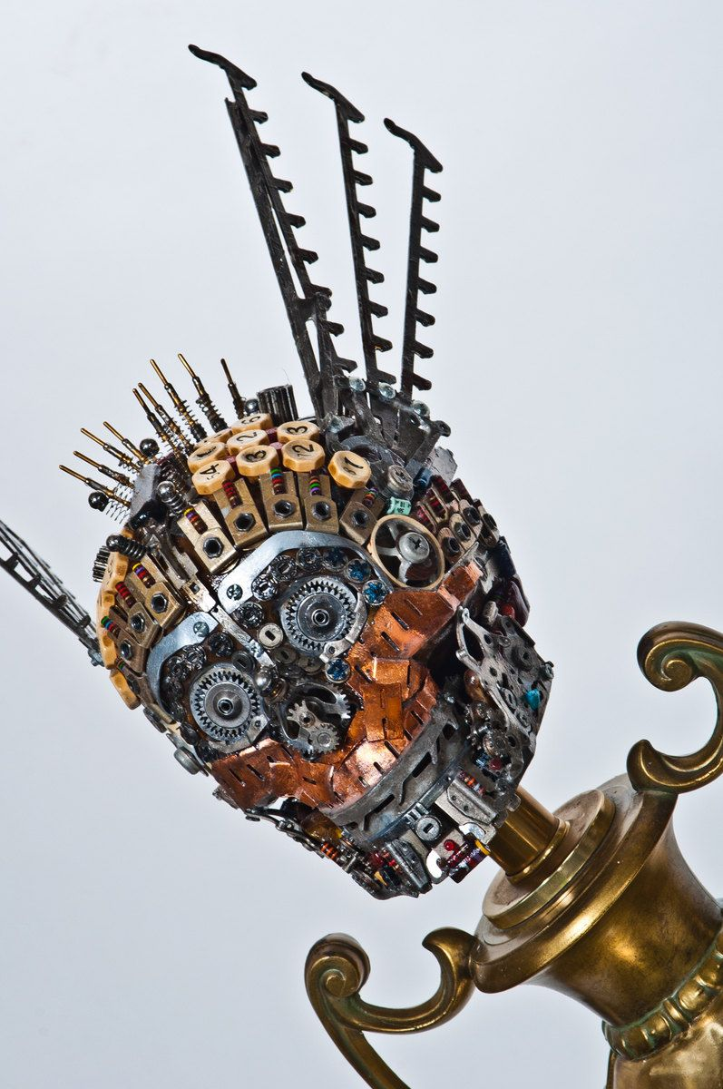 This Sculpture Was Created In The Likeness Of Hermes Greek God Pcb Sculptures Artist Upcycles Old Circuit Boards Into Art Materials Used