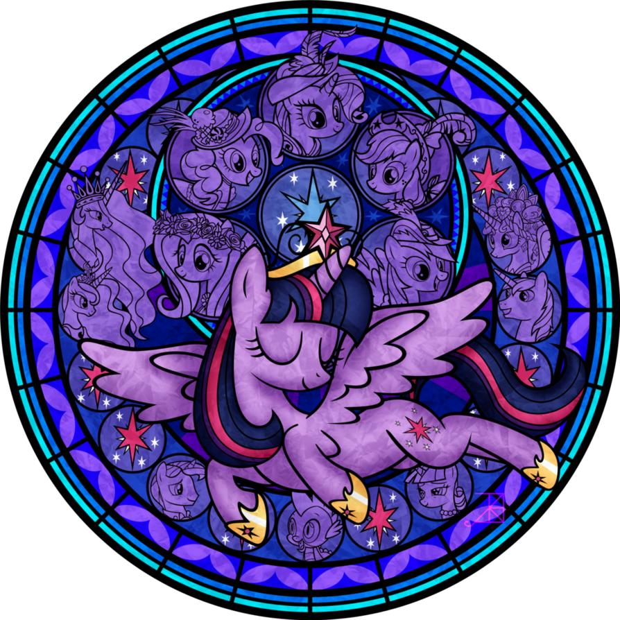 Stained Glass: Twilight's Coronation -vector- by Akili-Amethyst on deviantART
