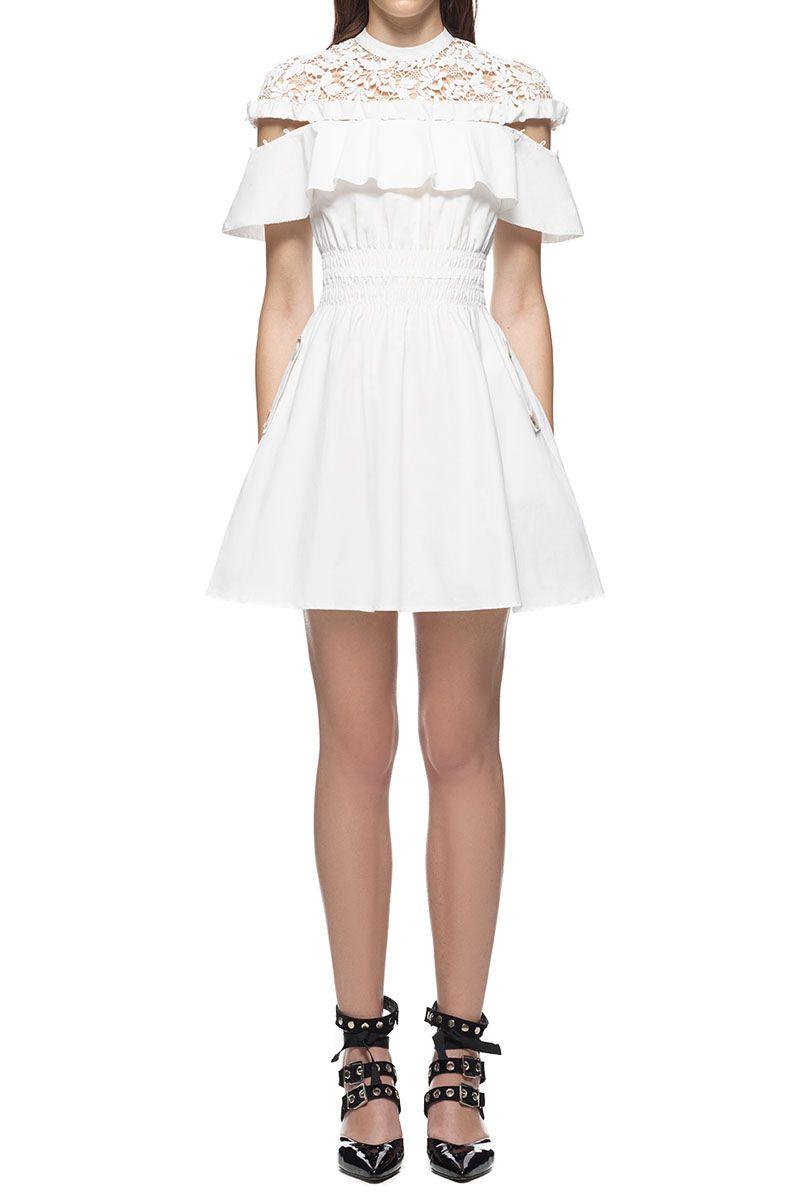 7ea2f1a6138  278.00 SELF PORTRAIT HUDSON MINI DRESS WHITE