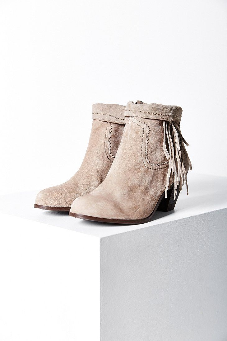 7f4eb0a9b Sam Edelman Louie Fringe Ankle Boot - Urban Outfitters