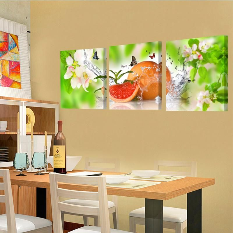 Fruit Flower Dining Room Canvas Prints Home Decor Wall Art With Stretched Frame Wall Painting Picture Wall Wall Decor