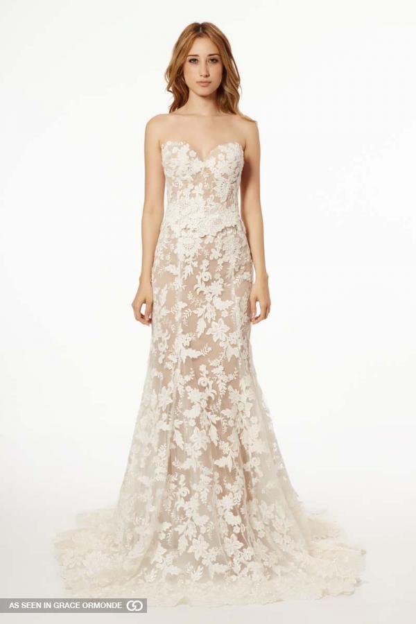 francesca miranda fall 2015 strapless wedding dress