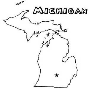 Adult Coloring Page Michigan Map Usa Maps Coloring Pages For