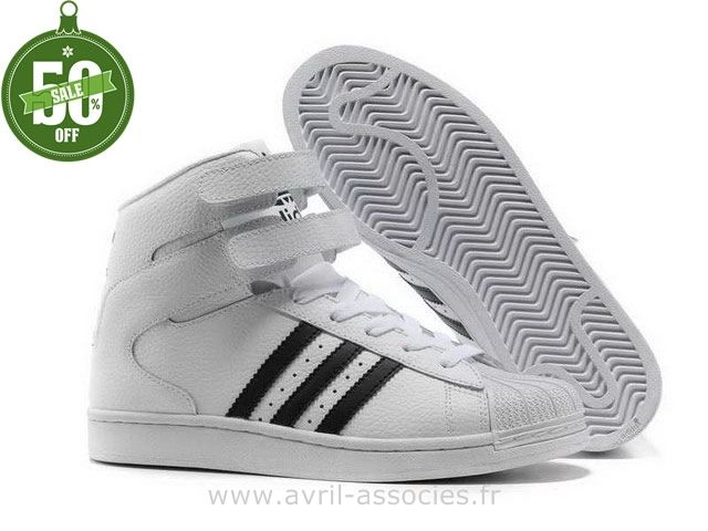 184b34bdd0f4 Boutique Salut Hommes Adidas Superstar Chaussures Blanc Noir (Basket Adidas  Superstar)