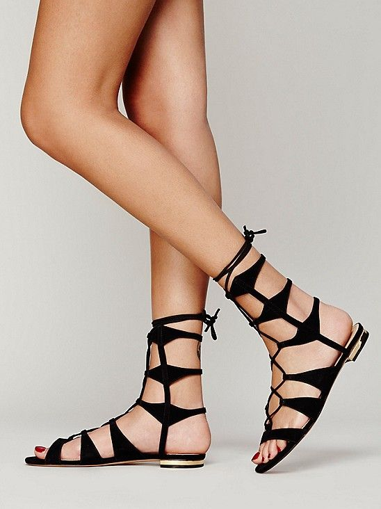 Pin by Moe Nolan on B Fl@ts.. | Lace up gladiator sandals