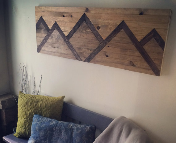 Wood Wall Art Mountain Range Decor Wood Wall Art Diy Wall Diy