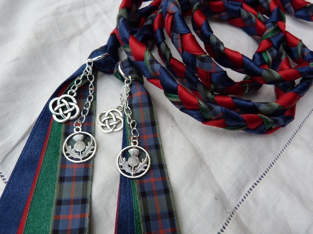 Handfasting cord flower of scotland tartan scottish