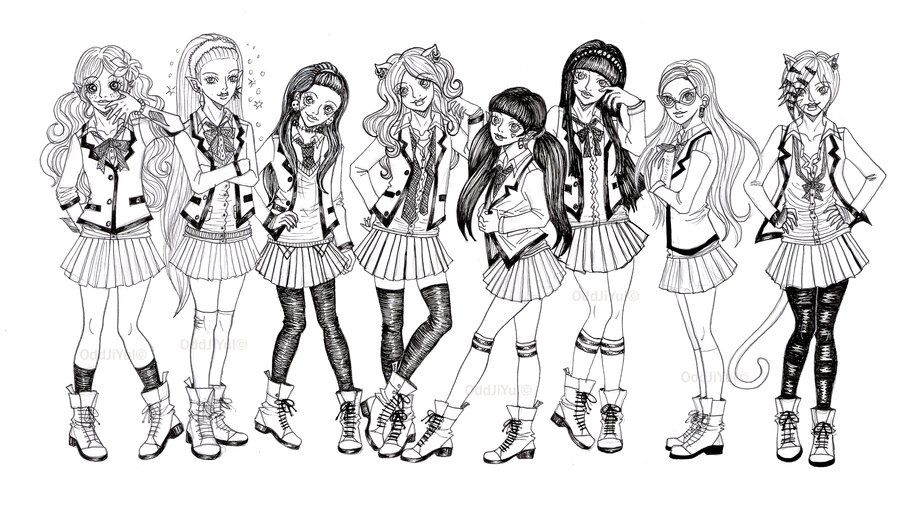 Monster High cketched Coloring Pages | some monsterhigh ghouls by ...