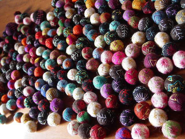 Wool felt balls by Modern Fiber Lab - Sonya Yong James, via Flickr