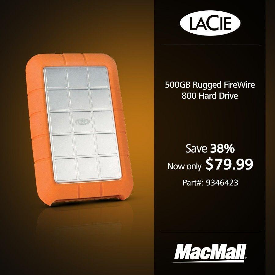 Save 38% on a #LaCie 500GB rugged FireWire 800 #USB3 drive at MacMall.