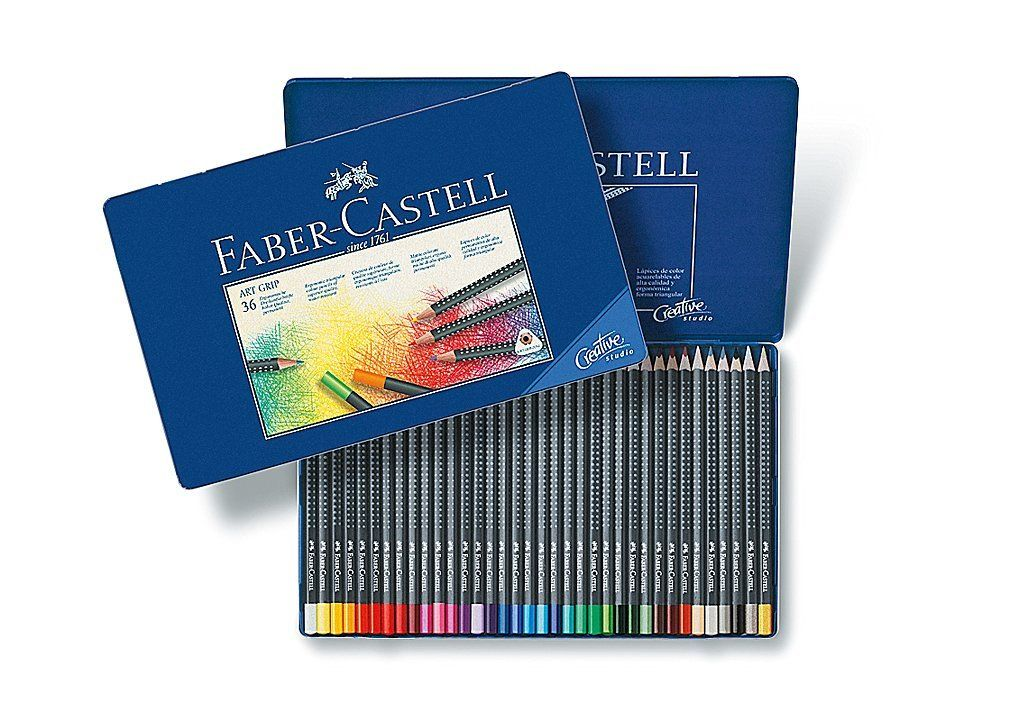 Amazon Com Faber Castell Art Grip Color Pencils Tin Of 36 Toys