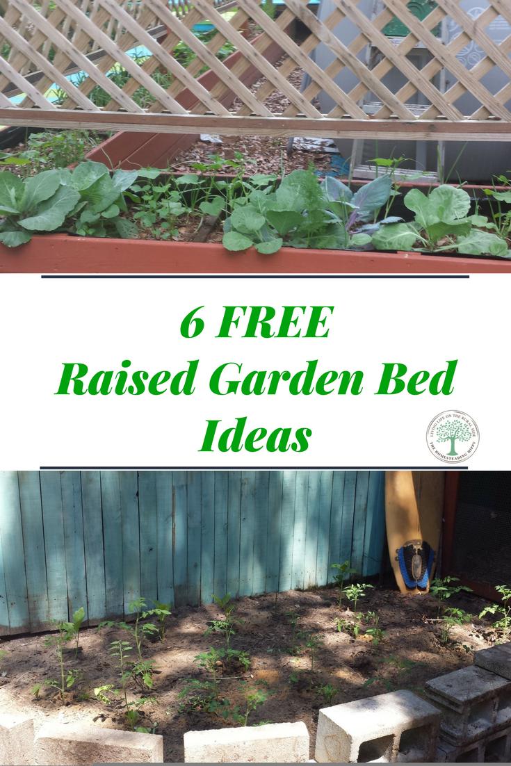 6 Free Raised Garden Bed Ideas Maximize Your Space The Homesteading Hippy Raised Garden Backyard Garden Landscape Backyard Garden