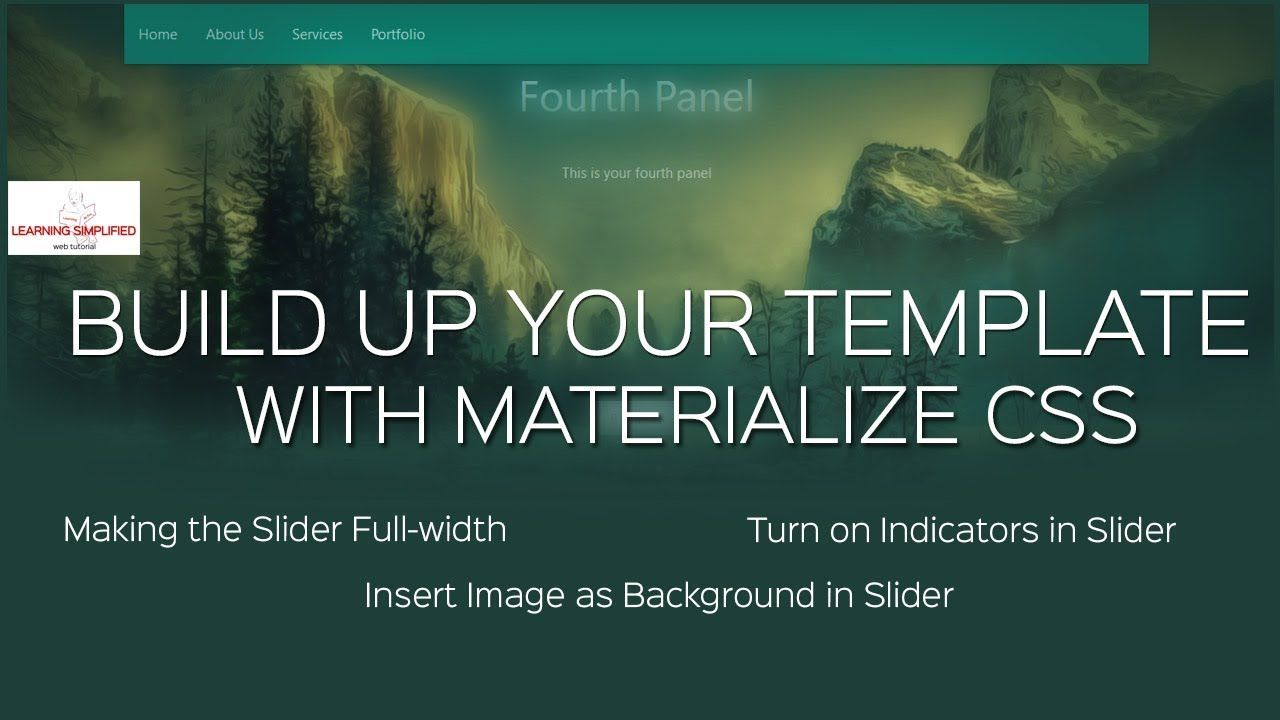 How To Make A Full Width Slider With Indicators In Materialize Css