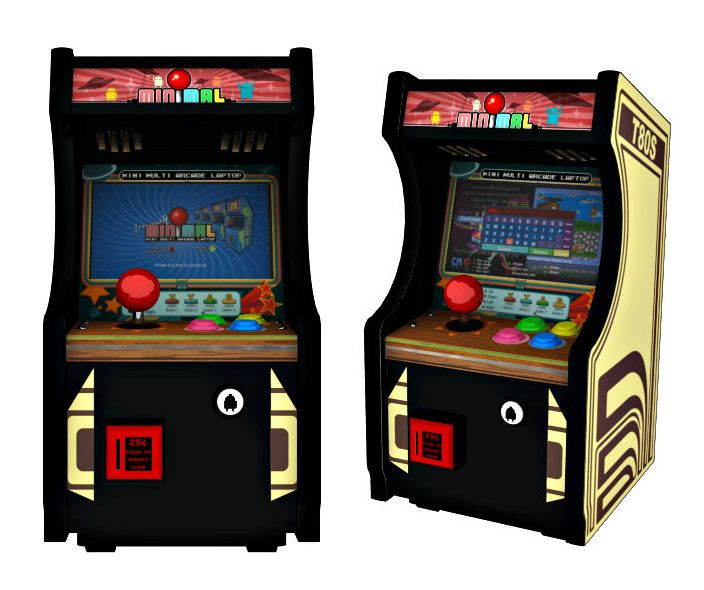 minimal t80s is a tiny working arcade cabinet