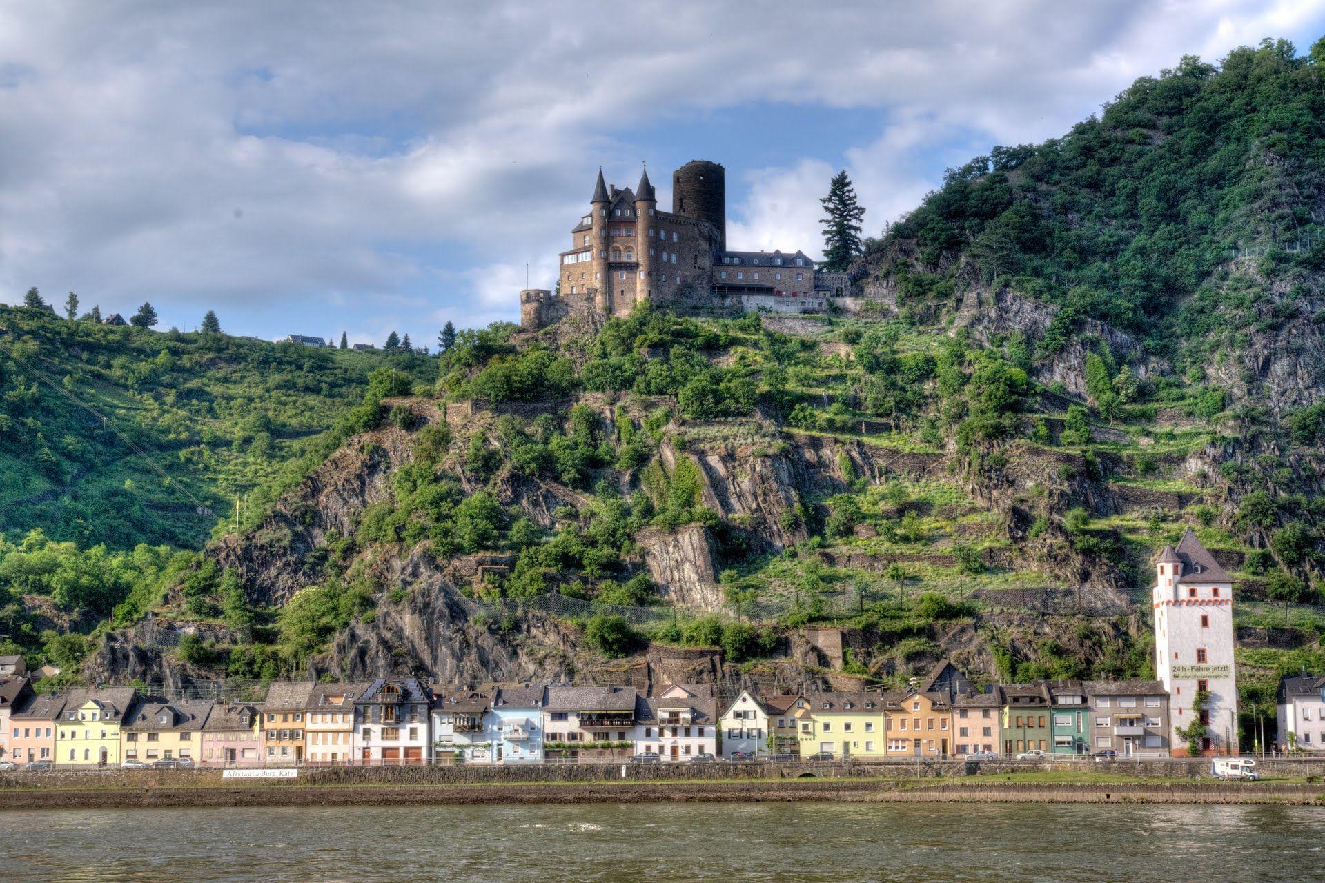 Sankt Goarshausen Burg Katz Rheinhange Von Burg Gutenfels Bis Zur Loreley Burg Sankt Rheine