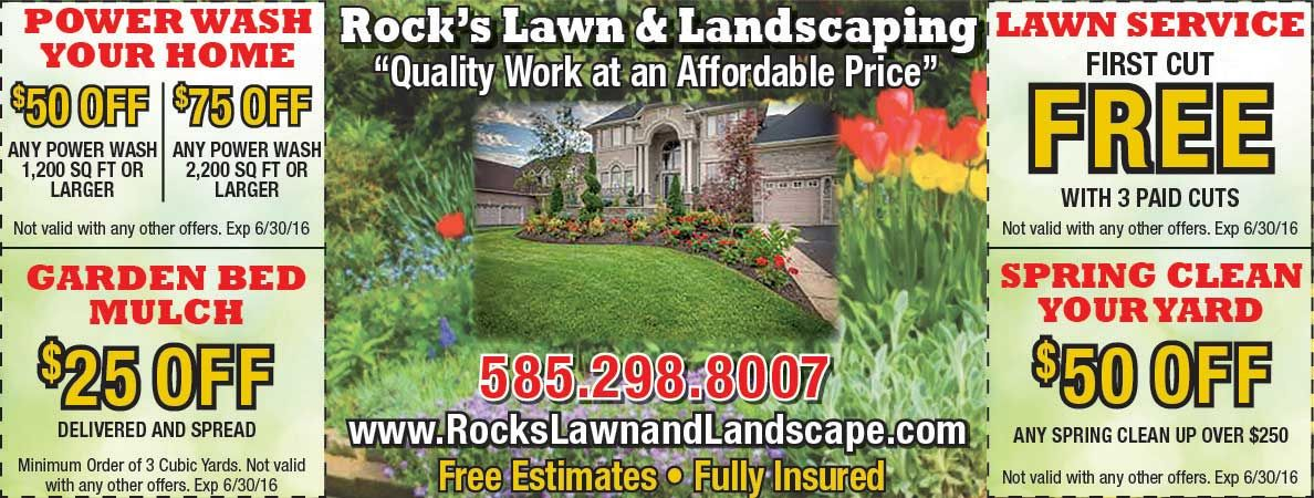 Rock\'s Lawn and Landscaping will help get your yard ready for Spring ...