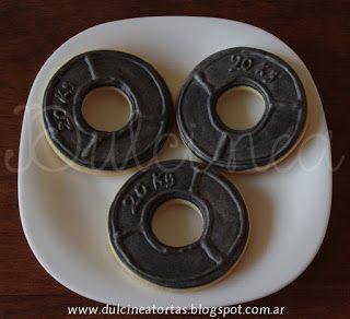 cookies decoradas discos de pesas