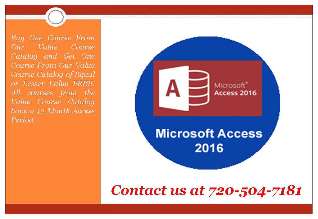 Microsoft Access 2016 Online Training Online Certification