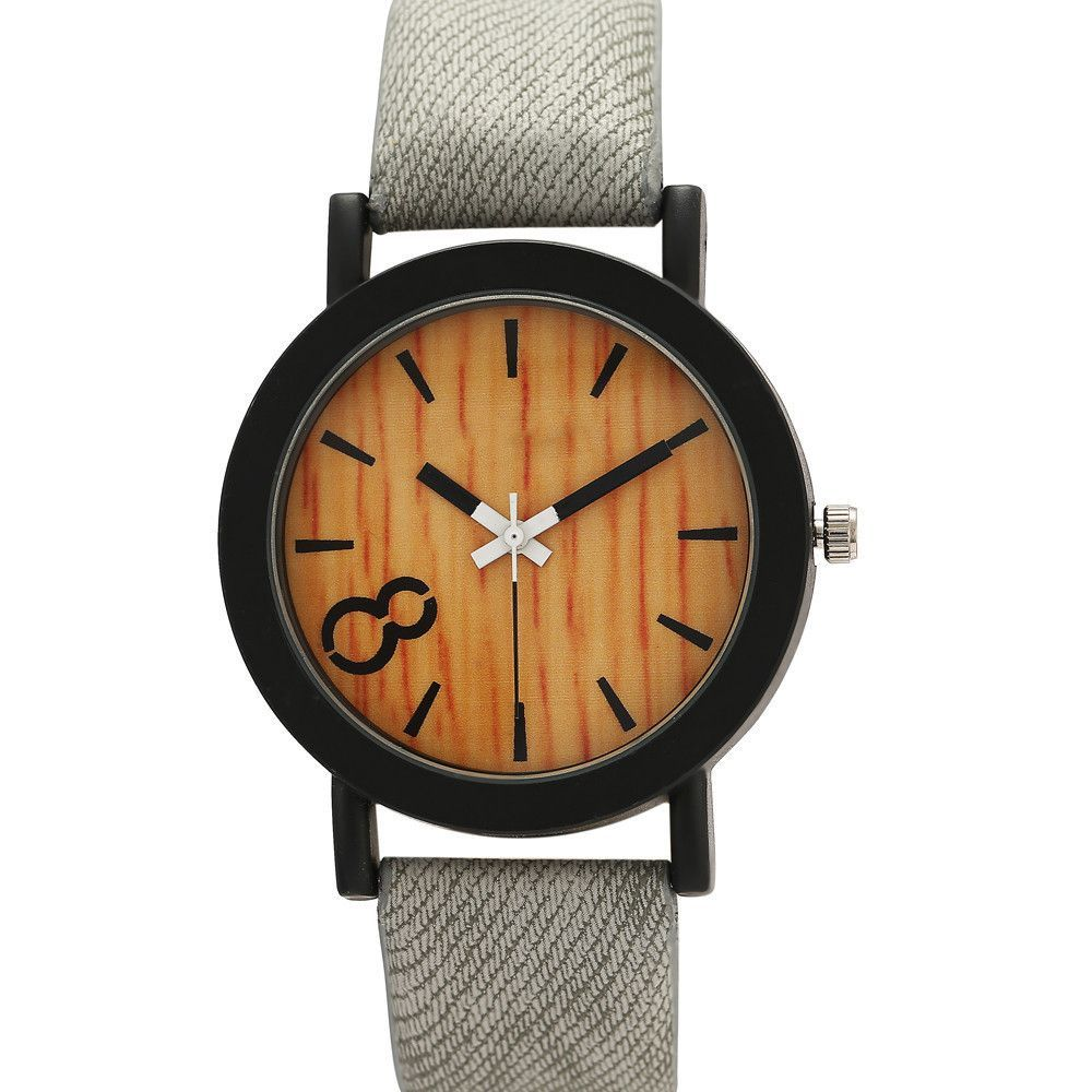 Wooden Leather Strap Watch