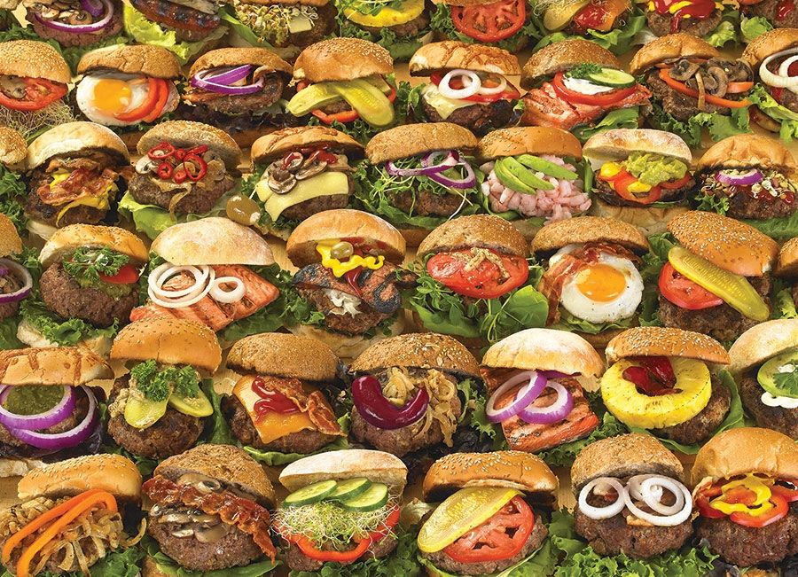 1000pc Burgers Jigsaw Puzzle Cobble Hill Puzzle Co Jigsaw