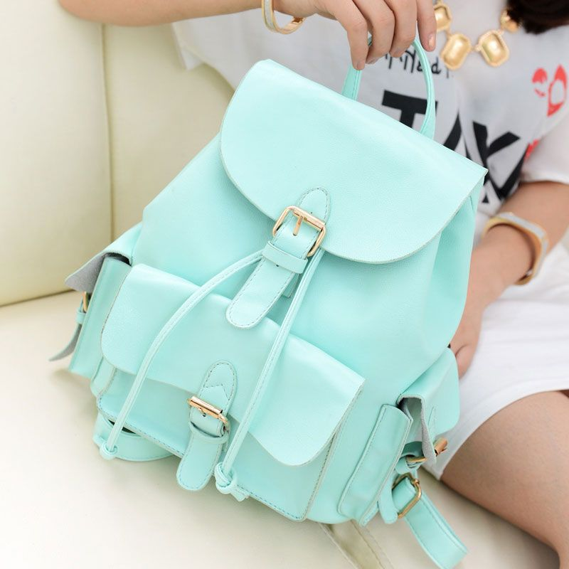 Casual College Style Mint Green Backpack only $29.99   Casual ...