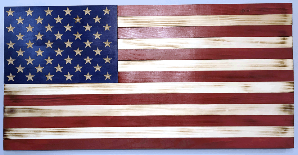 Wooden American Flag Patriotic Wall Art 37 X 19 5 Inches Carved Stars On Union Home Office Decor Indoor Outdoor In 2020 Wooden American Flag American Flag Wood Patriotic Wall Art