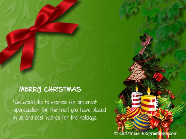 Business Christmas Messages And Greetings  Christmas Messages