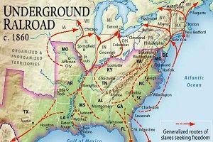 harriet tubman underground railroad | Routes of the Underground Railroad